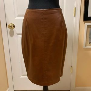 Ralph Lauren purple label brown leather skirt